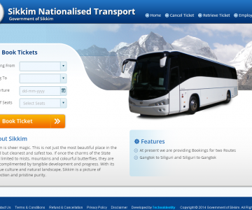 Sikkim Online Bus Ticketing